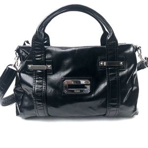 GUESS 'ARM CANDY' PATENT LEATHER CROSSBODY HANDBAG